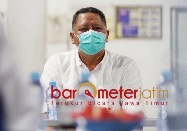 DUKA MENDALAM: Whisnu Sakti Buana, berbela sungkawa atas kepergian kepala Bappeda. | Foto: Barometerjatim.com/WIRA HARLIJADI