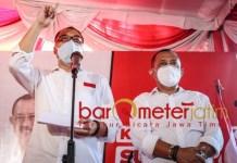 PILWALI SURABAYA: Eri Cahyadi-Armuji, gencar branding berdampak positif terhadap elektabilitas. | Foto: Barometerjatim.com/ROY HS