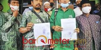 SOLID DUKUNG MUHIBBIN: MWCNU se-Kota Surabaya solid dukung kepengurusan duet KH Sulaiman Nur-Muhibbin Zuhri. | Foto: Barometerjatim.com/ROY HS