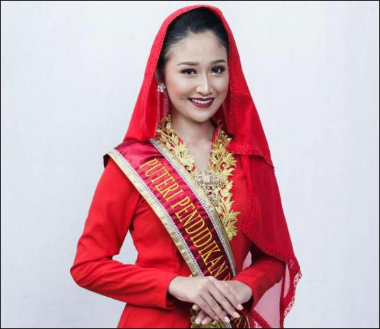 WAKIL JATIM: Athiyyah Putri Nararya, wakili Jatim di ajang Putri Pendidikan 2020 di Bandung Oktober mendatang. | Foto: IST