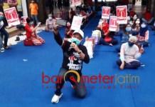 DUKUNGAN PEDAGANG: Armuji mendapat dukungan dari pedagang Hitech Mall di Pilwali Surabaya 2020.   Foto: Barometerjatim.com/ROY HS