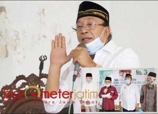 JANGAN DIPELINTIR: Haji Masnuh, berjiwa besar maafkan FK3. Inset: Haris Nukman sampaikan permintaan maaf. | Foto: Barometerjatim.com/ROY HS