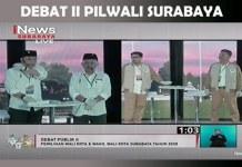 PILWALI SURABAYA: Debat publik kedua Pilwali Surabaya, Eri Armuji-Armuji dinilai unggul telak. | Foto: Capture INews