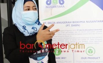 SDM INDONESIA: Esti Nalurani, SDM PT DABN seluruhnya anak-anak Indonesia. | Foto: Barometerjatim.com/ROY HS