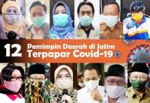 TERSASAR COVID-19: 12 pemimpin daerah di Jatim kena Corona, 4 meninggal, 3 isolasi, 5 sembuh. | Foto: Barometerjatim.com/ROY HS/IST