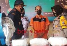 DIGAGALKAN: Polres Pelabuhan Tanjung Perak Surabaya gagalkan penyelundupan sabu. | Foto: Barometerjatim.com/ROY HS