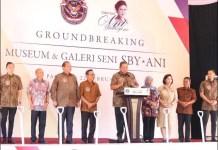 DANA DIBATALKAN: Groundbreaking Museum SBY-Ani di Pacitan, 22 Februari 2020. Dana dari Pemprov Jatim dibatalkan. | Foto: IST