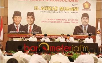 KEKUATAN BARU DI JATIM: Temu kader Partai Gerindra se-Mataraman bersama Sekjen Ahmad Muzani. | Foto: Barometerjatim.com/ROY HS