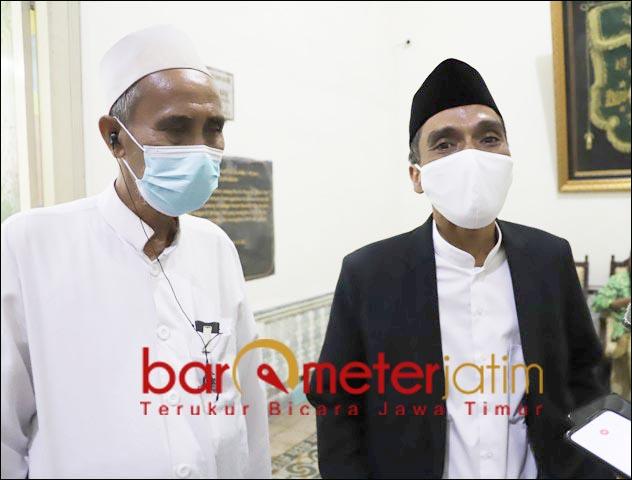 PIMPIN PCNU SURABAYA: Duet KH Mas Sulaiman Nur-KH Muhibbin Zuhri kembali memimpin PCNU Surabaya. | Foto: Barometerjatim.com/ROY HS