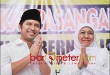 KEMBALI DUET ATAU PECAH?: Khofifah-Emil, kembali duet di Pilgub Jatim 2024 atau pecah kongsi? | Foto: Barometerjatim.com/ROY HS