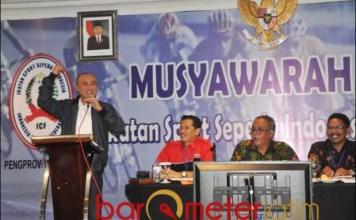 ISSI JATIM: Wahid Wahyudi, ucapkan selamat Kapolri Jenderal Pol Listyo Sigit Prabowo jadi Ketum PB ISSI. | Foto Barometerjatim.com/ROY HS