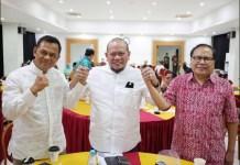 SATUKAN ELEMEN BANGSA: Gatot Nurmantyo, La Nyalla, dan Rizal Ramli di acara dialog antartokoh bangsa. | Foto: IST