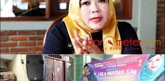 RESES: Laila Mufidah saat reses anggota DPRD Surabaya, banyak serap aspirasi warga. | Foto: Barometerjatim.com/IST