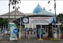 PROTOKOL KESEHATAN KETAT: Persiapan Masjid Nasional Al Akbar gelar shalat Idul Fitri 1442 Hijriyah. | Foto: IST