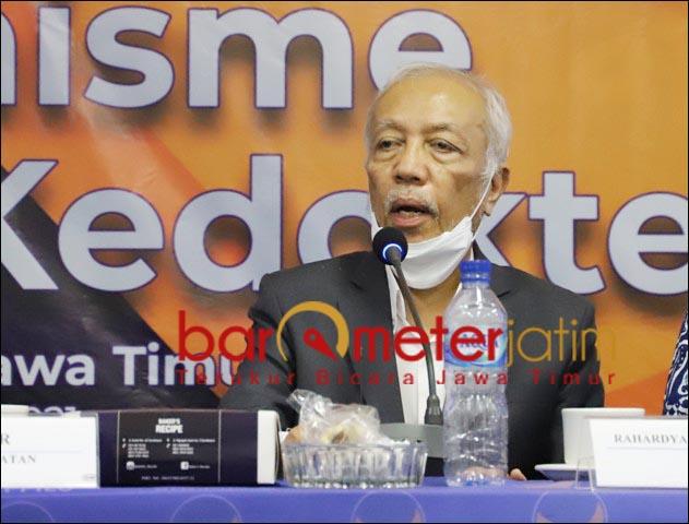 SANGAT PENTING: Prof M Nasser, puji restorasi humanisme pendidikan kedokteran gagasan Nasdem. | Foto: Barometerjatim.com/ROY HS