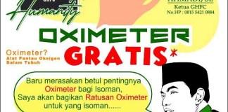 OXIMETER GRATIS: Gus Hans bagi-bagi oximeter gratis untuk terpapar Covid-19 yang tengah isoman. | Foto: GHFC for Humanity