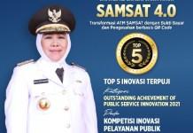 INOVASI TERPUJI: Kompetisi Inovasi Pelayanan Publik 2021, Samsat 4.0 Jatim raih top 5 inovasi terpuji. | Foto: IST