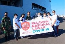 BANTUAN UNTUK BAWEAN: Relawan Nasional Lawan Covid-19 (RNLC) Jatim kirim bantuan ke Pulau Bawean. | Foto: RNLC Jatim