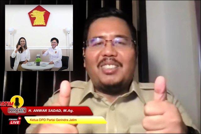 DUA JEMPOL: Anwar Sadad, berikan dua jempol untuk PD Pira Jatim yang mendirikan LKH bagi perempuan. | Foto: IST