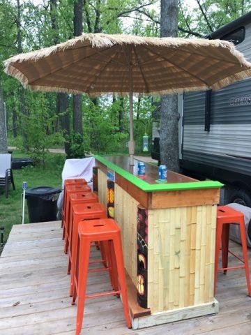 Tiki Bar Styles | Easy Home Bar Plans on Backyard Bar With Roof id=64603