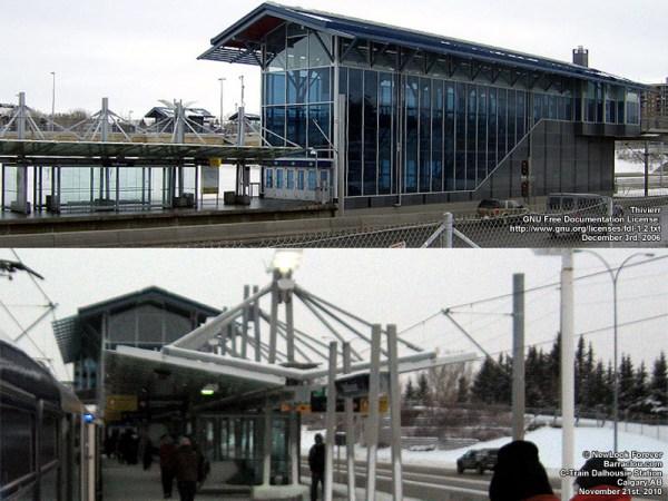 Calgary Transit CTrain stations Barracloucom