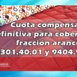 Cuota compensatoria definitiva para cobertores de fibras sintéticas tejido tipo Raschel