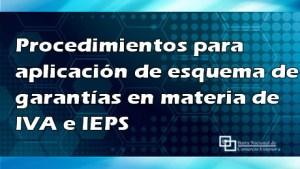 Procedimientos para aplicación de esquema de garantías en materia de IVA e IEPS