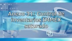 Anexo 31: Control de inventarios IMMEX saturado