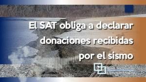 El SAT obliga a declarar donaciones recibidas