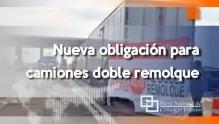 Nueva obligación para camiones doble remolque