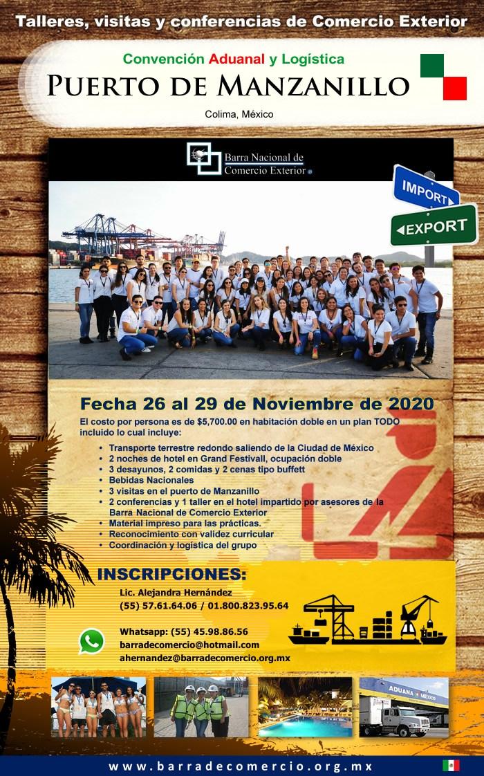 Convención Aduanal Manzanillo. Colima, México 2020.