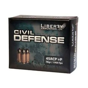 LIBERTY AMMO CIVIL DEFENSE 45ACP 78GR HP 20/50
