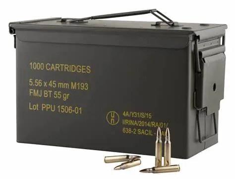 PPU Rifle Ammo 5.56x45