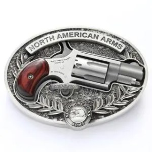 NORTH AMERICAN ARMS MINI REVOLVER 22LR NAA BELT BUCKLE