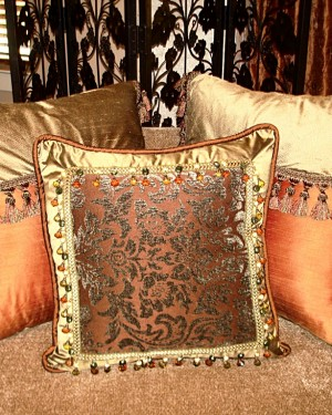 Custom Decorative Throw Pillows - Barrera's Draperies Plus