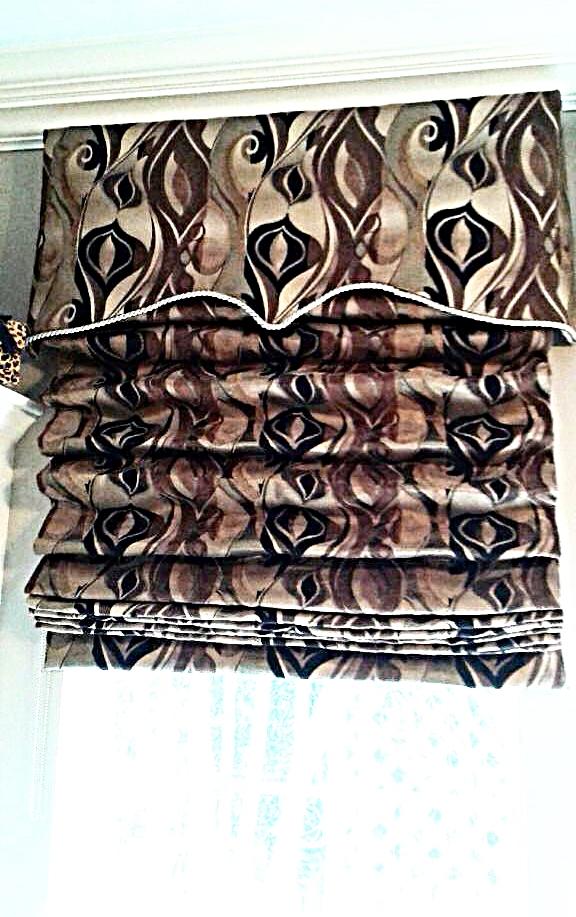 Custom Soft-Fold Roman Shade & Valance
