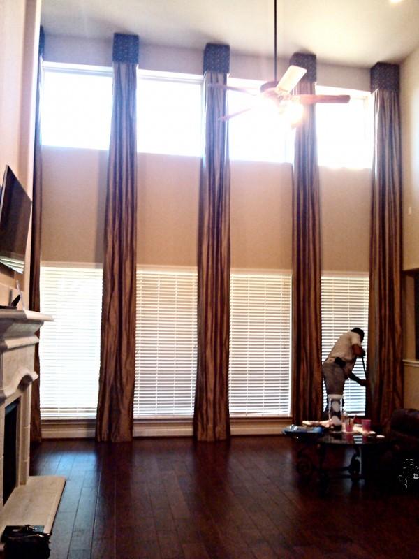 barrera 39 s draperies plus custom long draperies cornice boards. Black Bedroom Furniture Sets. Home Design Ideas