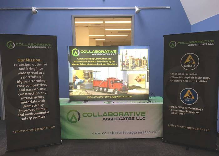 Portfolio: Collaborative Trade Show Booth Graphics