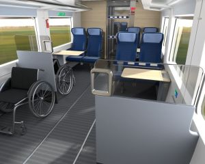 3 Plätze für Rollstuhlfahrer im ECx