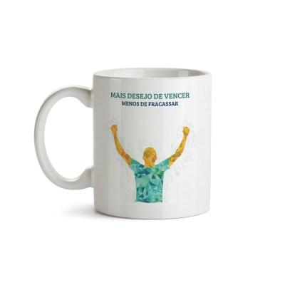 Caneca Desejo De Vencer - Motivacional - Coleção Office Station - Barril Criativo