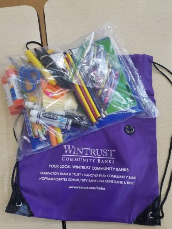 Giving Day Back to school Wintrust bags 2017