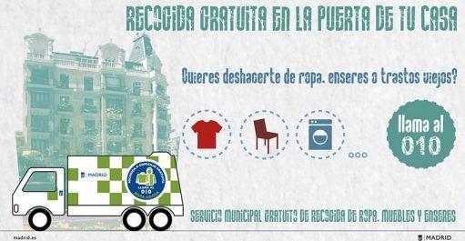 recogida gratuita basura Madrid