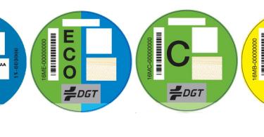 etiquetas Madrid DGT