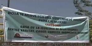 Protesta contra violencia hacia las mujeres en Bosa