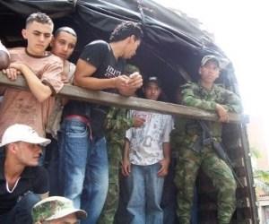 Batidas de reclutamiento en Bogotá