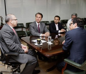 Alcaldes de Bogotá y Soacha