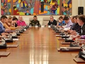 Consejo de ministros con presidente Santos