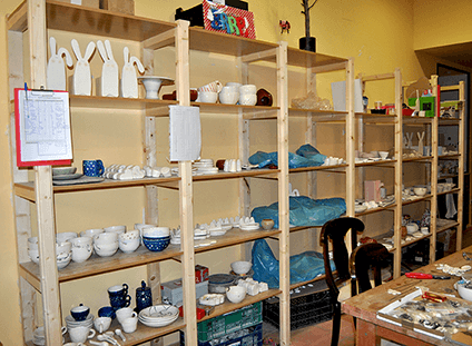 Estanteria Taller de Ceramica Barruntando