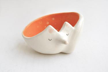Cuenco Zorrito Naranja