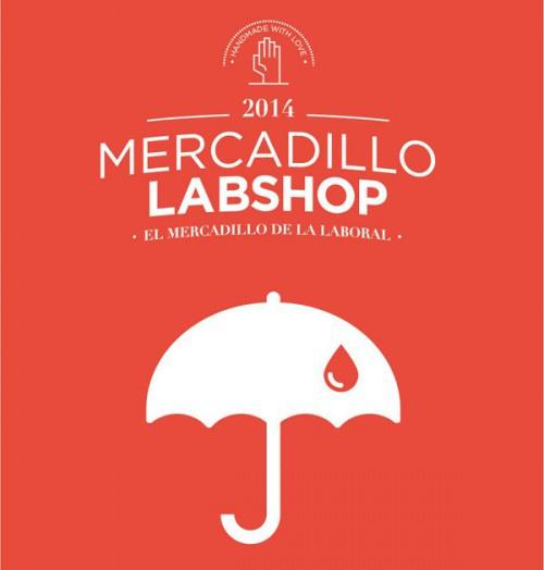 Cartel del Mercadillo Labshop de diciembre de 2014